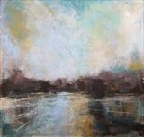 Across the Lake by Sarah Warley-Cummings, Painting, Pastel on Board