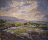 Arun Valley in Flood by Sarah Warley-Cummings, Painting, Oil on canvas