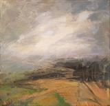 Mist on the Moors by Sarah Warley-Cummings, Painting, Oil on canvas