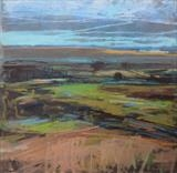 The Downs by Sarah Warley-Cummings, Painting, Pastel